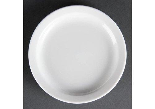 Olympia Assiettes en porcelaine blanche 15 cm (Pièces 12)