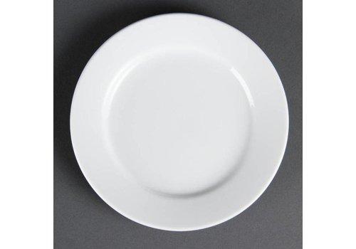 Olympia Assiette en porcelaine blanche / 16,5 cm / 12 pièces