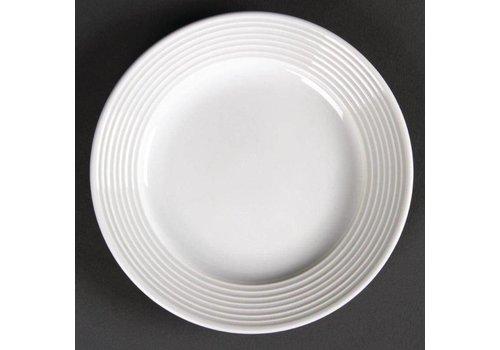 Olympia Assiette plate en porcelaine avec bord large 15 cm (pièces 12)