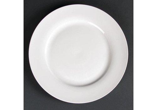 ProChef Grande assiette de service blanche bord large 27 cm (4 pièces)