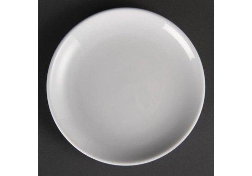 Olympia Assiettes rondes en porcelaine blanche 18 cm (pièces 12)