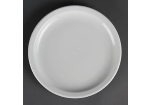 Olympia Assiette plate en porcelaine avec bord étroit 23 cm (morceaux 12)