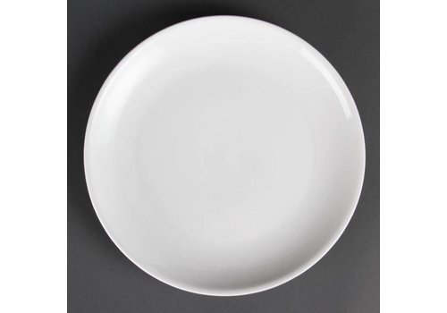 Olympia Assiette ronde en porcelaine blanche 28 cm (6 pièces)