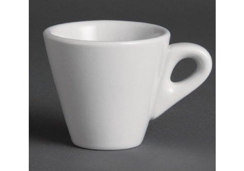 Olympia Tasses à espresso coniques blanches 60ml