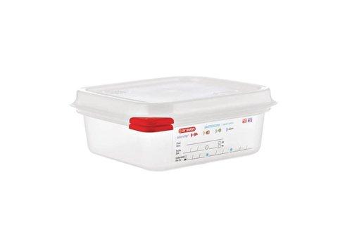 Araven Boîtes alimentaires 1/6 GN avec couvercle (4 pièces)   3 Formats