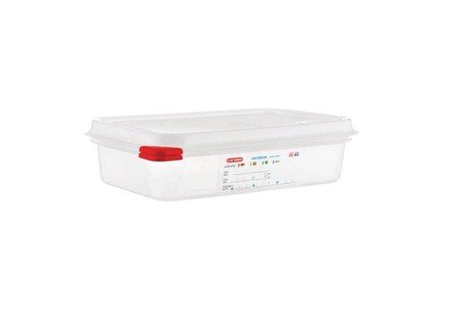 Araven Boîtes alimentaires 1/4 GN avec couvercle   1,8 litres