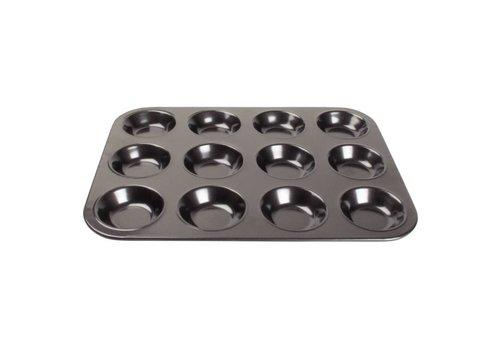 Vogue Plaque antiadhésive de mini moules à muffins| 12 Forme