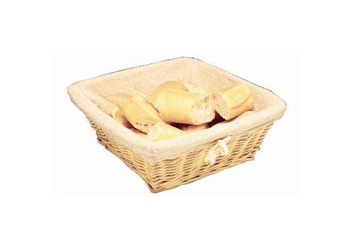 ProChef Corbeille à pain carrée avec couvercle | 23 x 23 x 10 cm