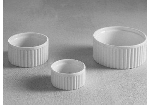Hendi Ramequin cannelés blanc   porcelaine   6 pieces