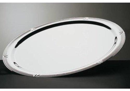 ProChef Plat de service ovale en acier inoxydable