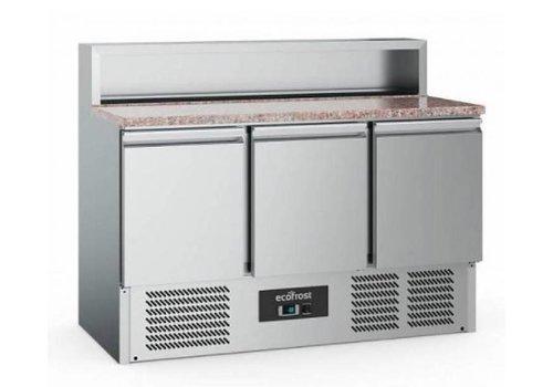 Ecofrost Etabli à pizza | 3 portes  | Acier inoxydable | 402L