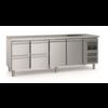 Ecofrost 700 Etabli de refroidissement | 2 portes 4 tiroirs | Pieds réglables