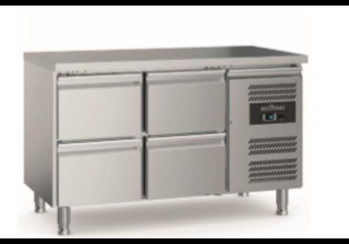 Ecofrost 700 Etabli de refroidissement | 4 tiroirs | Avec pieds réglables