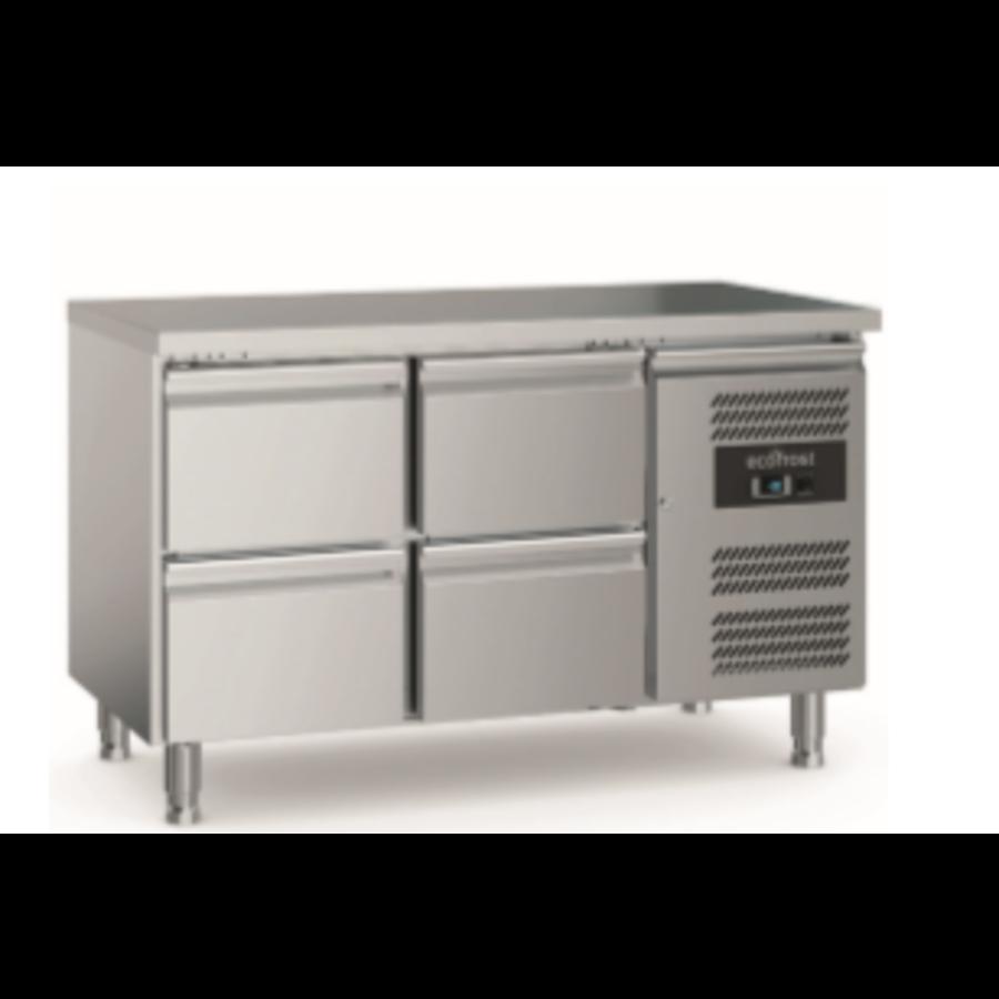 700 Etabli de refroidissement | 4 tiroirs | Pieds réglables