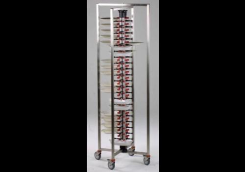 Combisteel Chariot Porte-Assiettes Pliable | 48 Assiettes