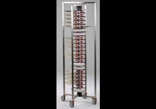 Combisteel Chariot Porte-Assiettes Pliable | 84 Assiettes