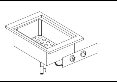 Combisteel Built-in bain-marie | 230 V | Type 1/2 + 1/4 GN