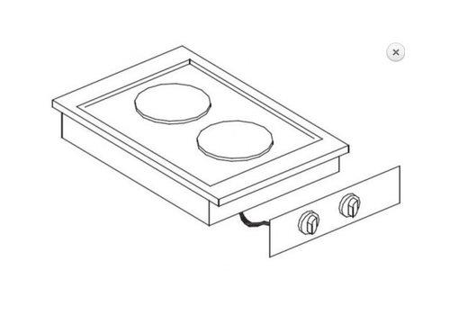 Combisteel Unité de Cuisson | Cuisinière Electrique 2 Plaques | 4,1 kW | 400x600x(H)260mm