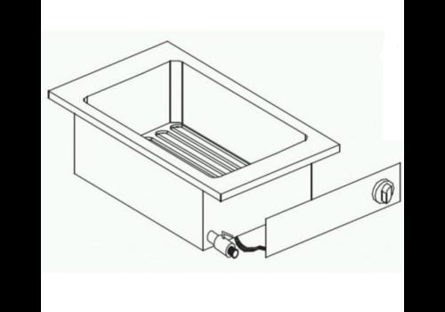 Combisteel Friteuse Electrique | 10 Litres | 7,25 kW | avec Robinet de Vidange | 40x60x(H)35,6cm