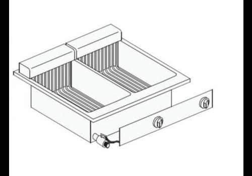 Combisteel Friteuse Electrique | 2x 10 Litres | 14,5 kW | avec Robinet de Vidange | 60x60x(H)35,6cm