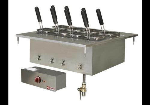 Diamond Cuiseur à Pâtes Electrique encastrable   Inox    40 Litres   400V/9kW