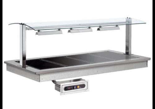 Combisteel Plaque Chauffante  | 3x1/1GN |0,85KW/230V