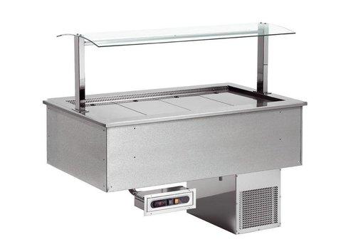 Combisteel Plaque Réfrigérée   À encastrer   4x1/1GN   1494x650x(h)565mm