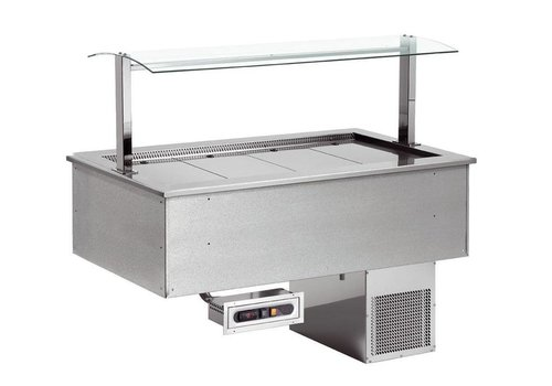 Combisteel Plaque Réfrigérée encastrable   2x1/1GN   844x650x(h)565mm