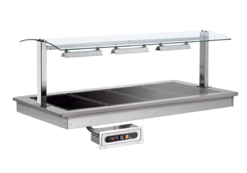 Combisteel Plaque Chauffante | 4x1/1GN |1,14KW/230V