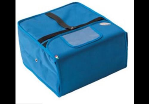 Diamond Sac Thermique Livraison | Bleu | Pour 4/5 Cartons Pizza de Ø32 cm