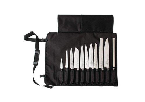 Dick Etui à Couteaux en tissu avec une sangle | 11 Compartiments
