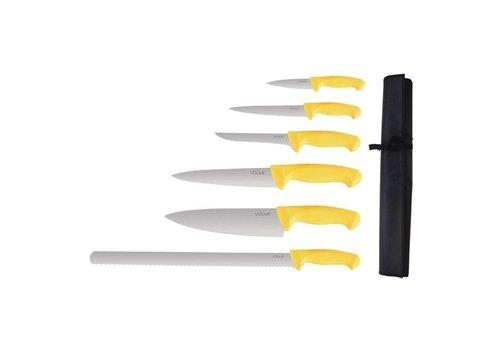 Vogue Ensemble De 6 Couteaux Soft Grip Pro avec Étui