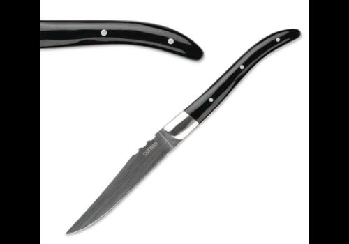 ProChef Couteaux à Steak | ACR | Noir | 22,5cm | Lot de 6 Pièces
