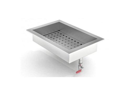 Combisteel Bac à Glace Pilée à Encastrer | Inox | 402 (L) x 590 (P) x 170 (H) mm /  1/1 GN