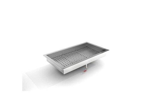 Combisteel Bac à Glace Pilée   1042 (L) x 590 (P) x 170 (H) mm