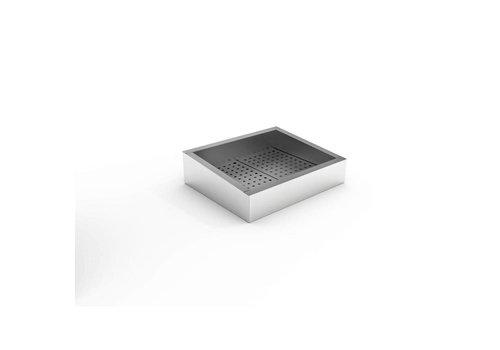 Combisteel Bac à glace pilée | 2/1 GN | 402 (L) x 590 (P) x 160/210 (H) mm