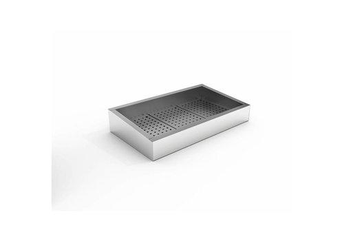 Combisteel Bac à Glace Pilée | 3/1 GN | 402 (L) x 590 (P) x 160/210 (H) mm
