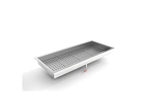 Combisteel Bac à glace pilée | 4/1 GN / 1362 (H) x 590 (P) x 170 (H) mm