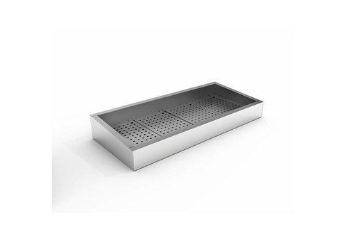 Combisteel Bac à glace pilée | 4/1 GN | 402 (L) x 590 (P) x 160/210 (H) mm