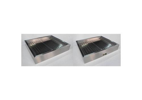Combisteel Bac à Glace pilée GN 4x1/1 | 1362 (L) x 590 (P) x 170 (H) mm