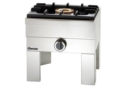 Bartscher Réchaud à Gaz GPL Inox - 1 Brûleur 7kW - 450x475x500(h)mm