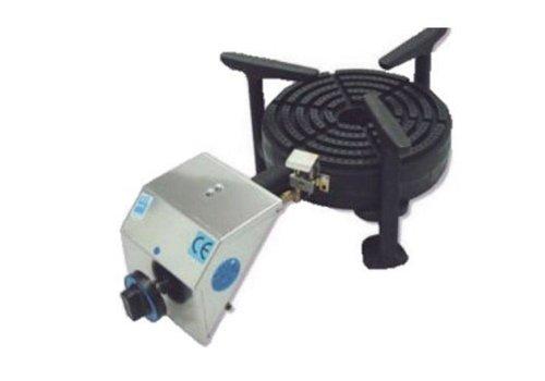 Diamond Brûleur Gaz | pour Paella | INOX | Ø250mm | Modèle de Table | 10 kW | 623x355x230(h)mm