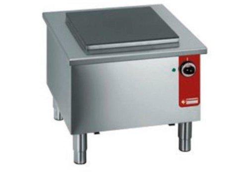 ProChef Réchaud bas électrique | Inox | Plaque fonte 40x40cm | 580x580x(h)520mm