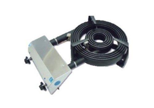 Diamond Brûleur Gaz | pour Paella | Inox | Ø450mm | Modèle de Table | 27,2 kW | 790x480x(h)230mm