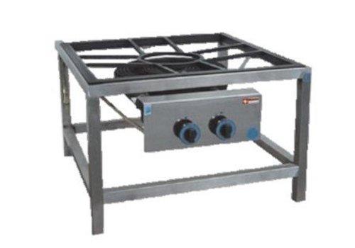 ProChef Brûleur Gaz | pour Paella | Inox | Ø 450mm | Modèle de Table | 27,2 kW | 800x900x(h)550mm