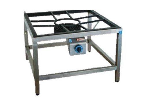 Diamond Brûleur Gaz | pour Paella | Inox | Ø250mm | 10 kW | 600x600x550(h)mm