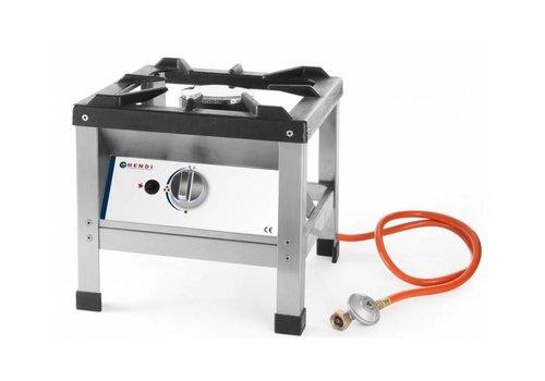 Hendi Réchaud à Gaz | Inox | Kitchen Line | 6,4 kW | 425x425x400(h)mm