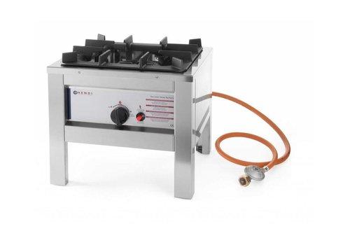 Hendi Réchaud à Gaz Inox - Modèle Big Flame   6,7 kW   425x425x400(h)mm