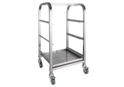 ProChef Chariot pour Casiers Inox | 3 niveaux
