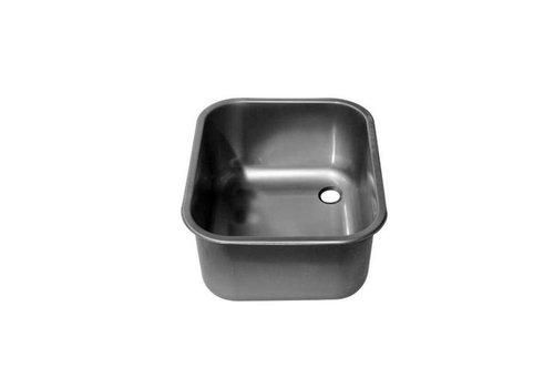 ProChef Cuve à Souder | Sans Trop-Plein | Droite | 500x400x250(h)mm